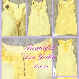Exquisite Taylor Sun Yellow Dress Size 4 💜💛💚🧡